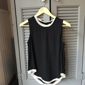 Who What Wear Black Sleeveless Top